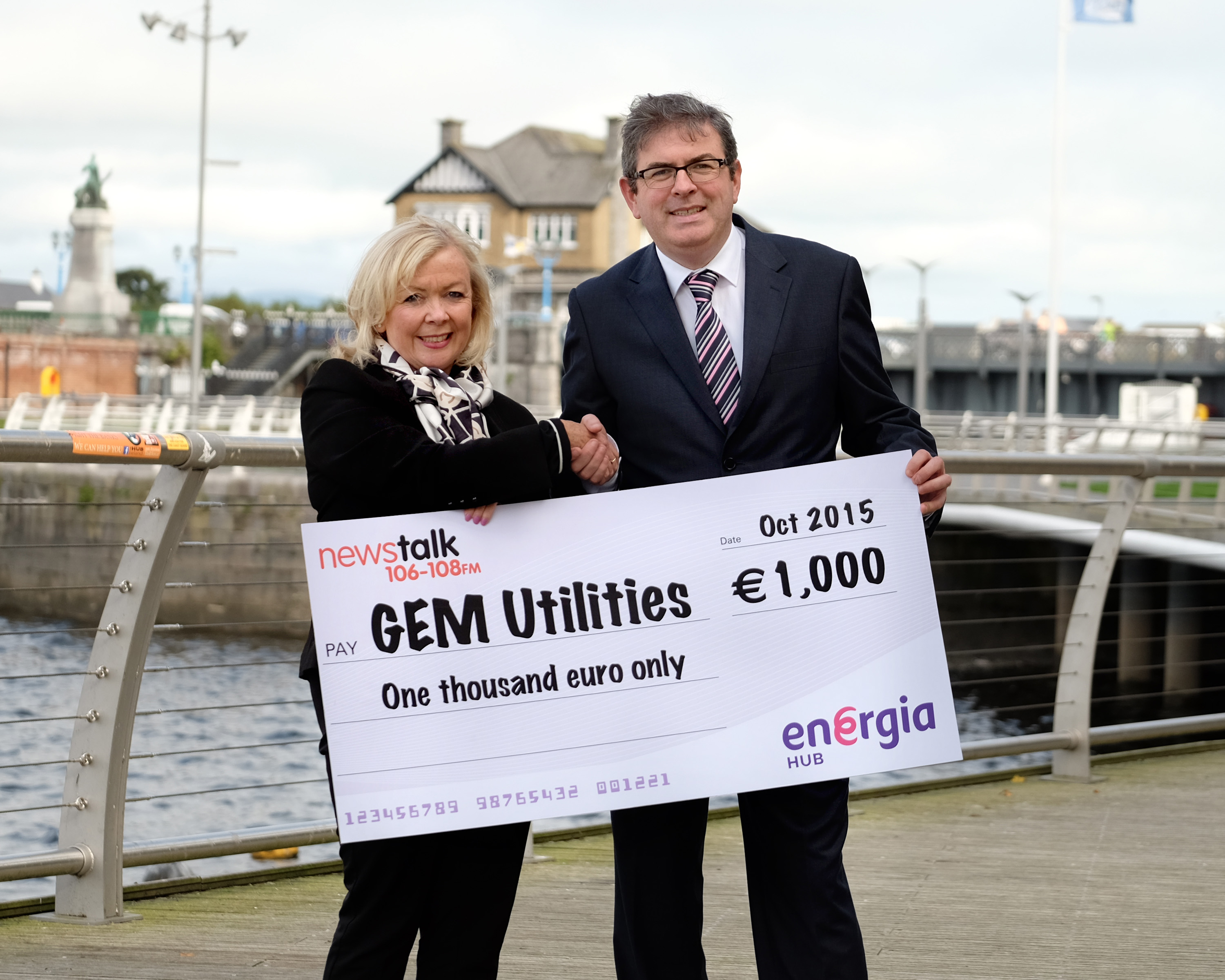 "GEM Utilities wins Energia's ""Kickstart Your Business"" competition on The Right Hook on Newstalk 106-108"