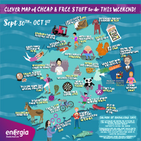 Cheap and Free Things To Do This Weekend 30th Sept - 1st October 2017