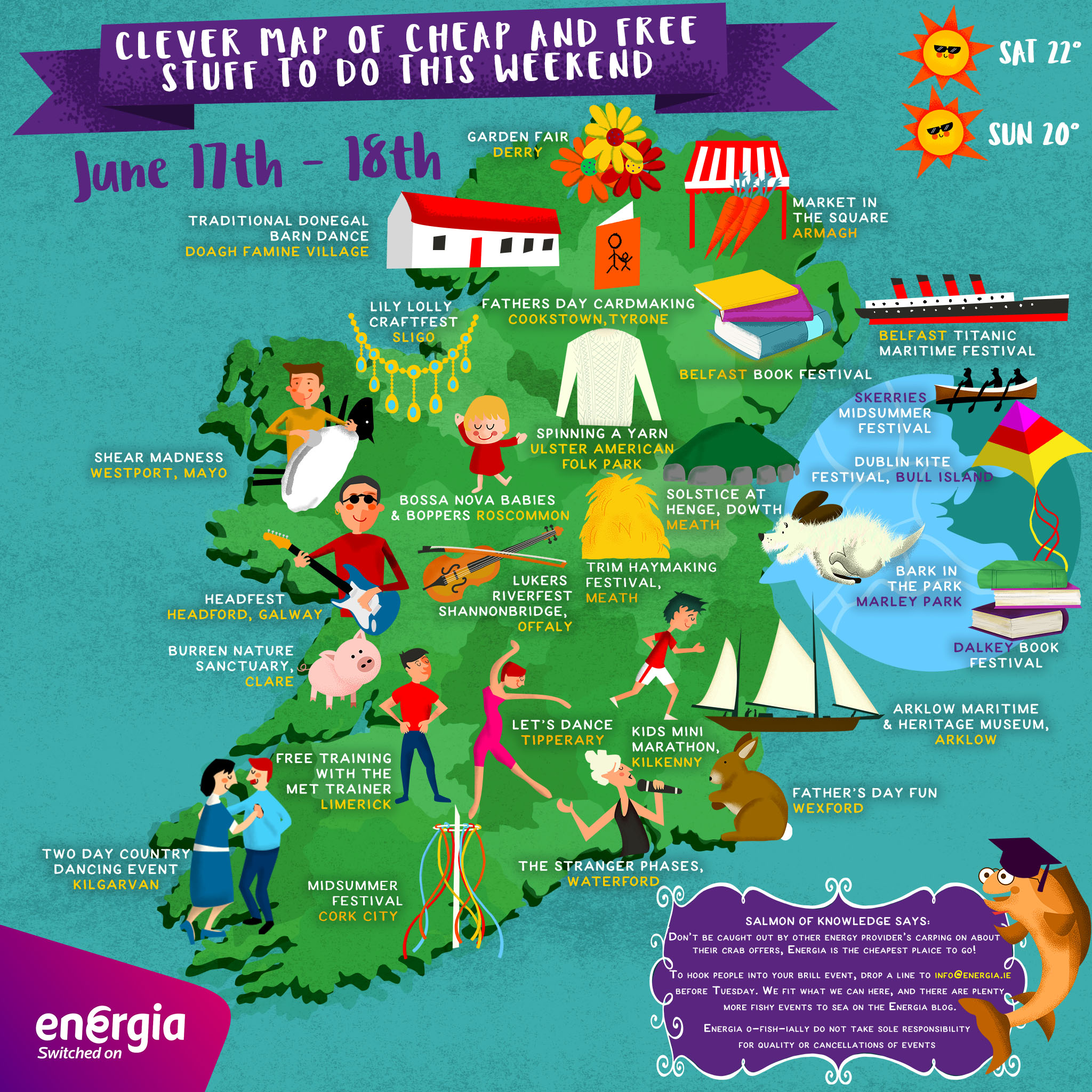 Map Of The Burren Ireland.Clever Map Of Cheap Free Stuff To Do This Weekend 17th 18th June
