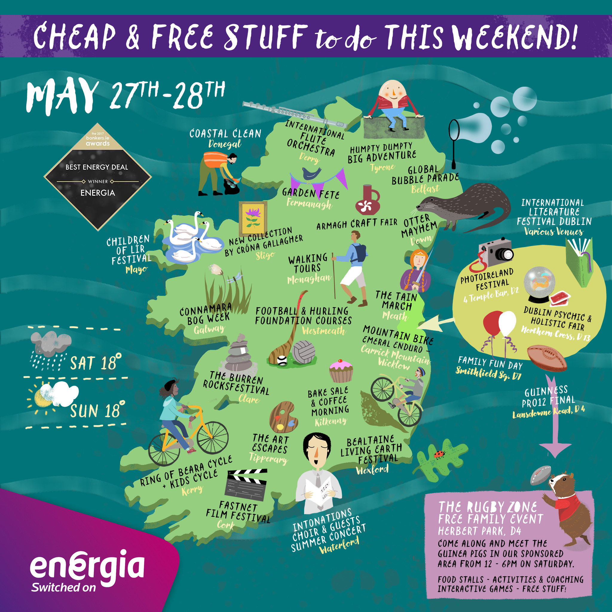 cheap u0026 free things to do this weekend 27th 28th may energia