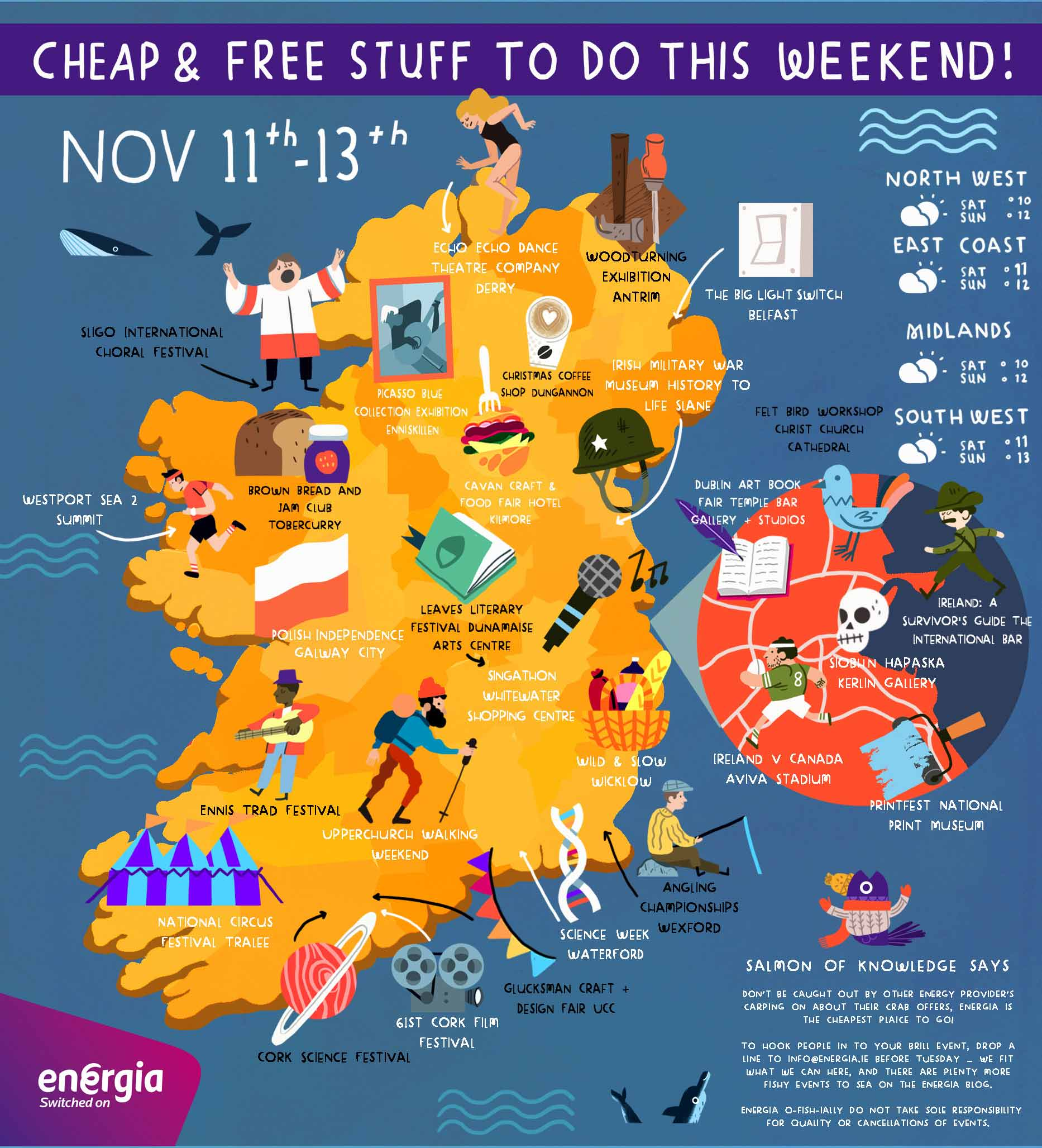 Cheap & Free stuff to do this weekend 11th - 13th November