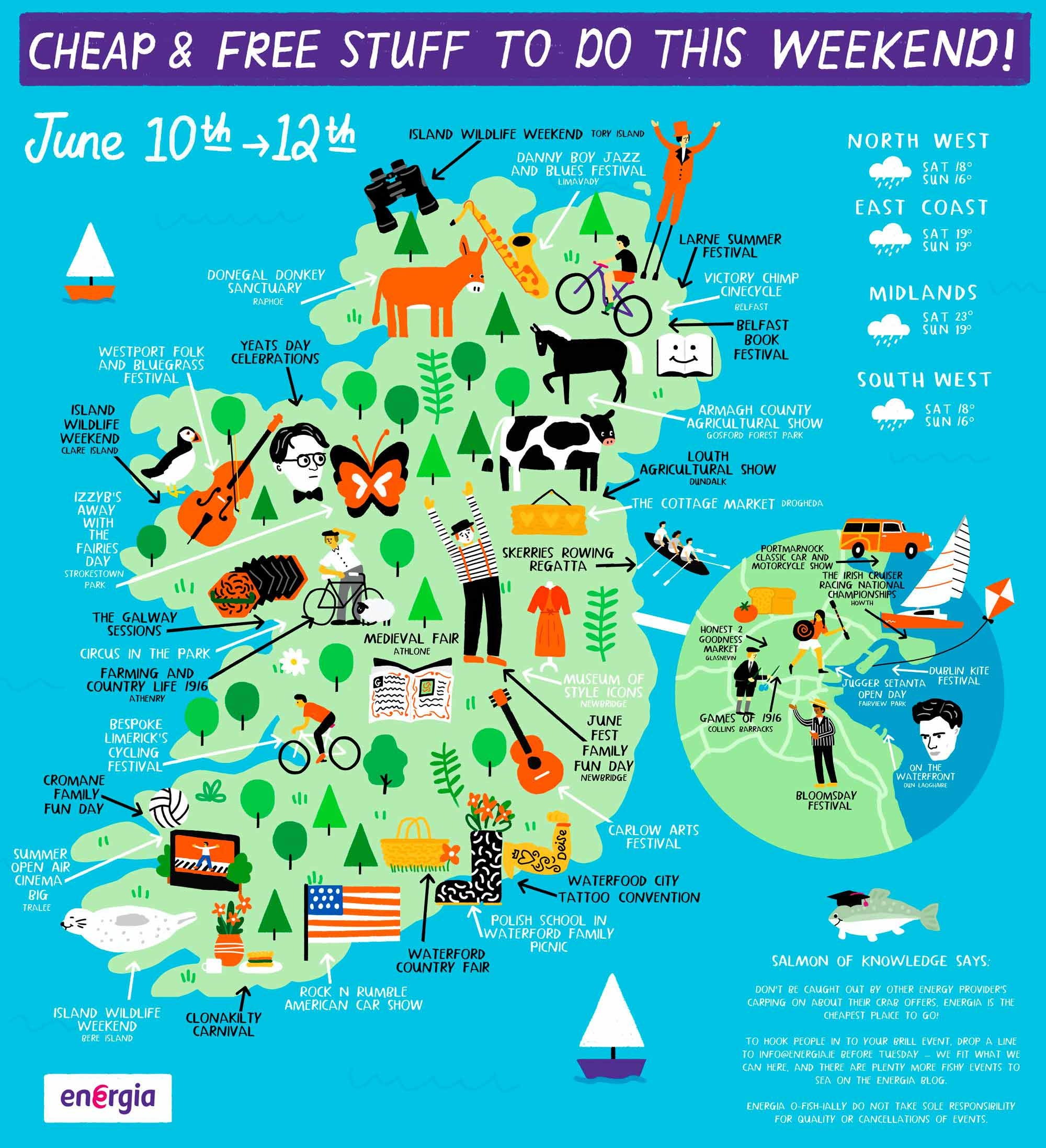 Cheap & Free stuff to do this weekend 10th - 12th June