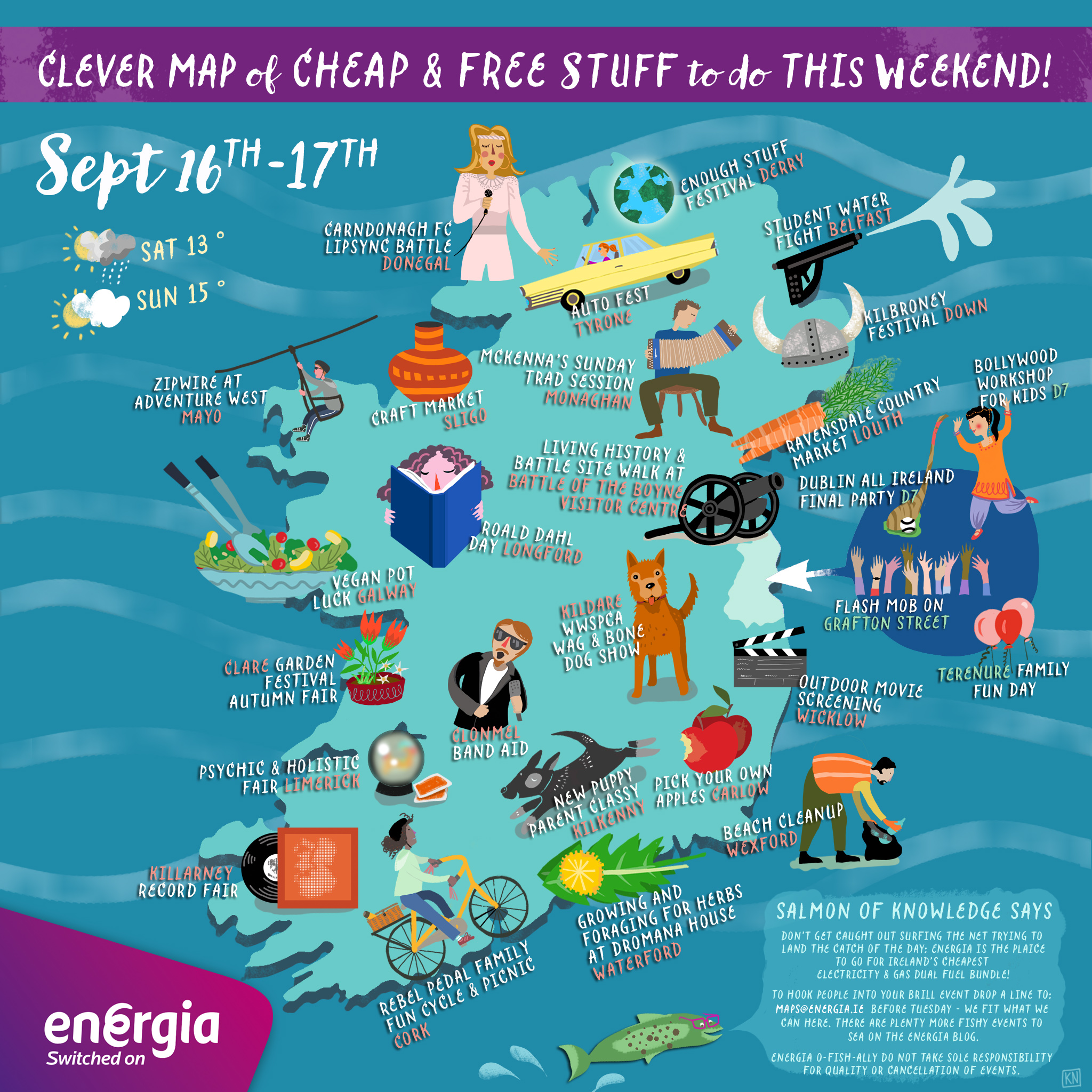 Kids Map Of Ireland.Cheap Free Things To Do This Weekend 16th 17th September Energia