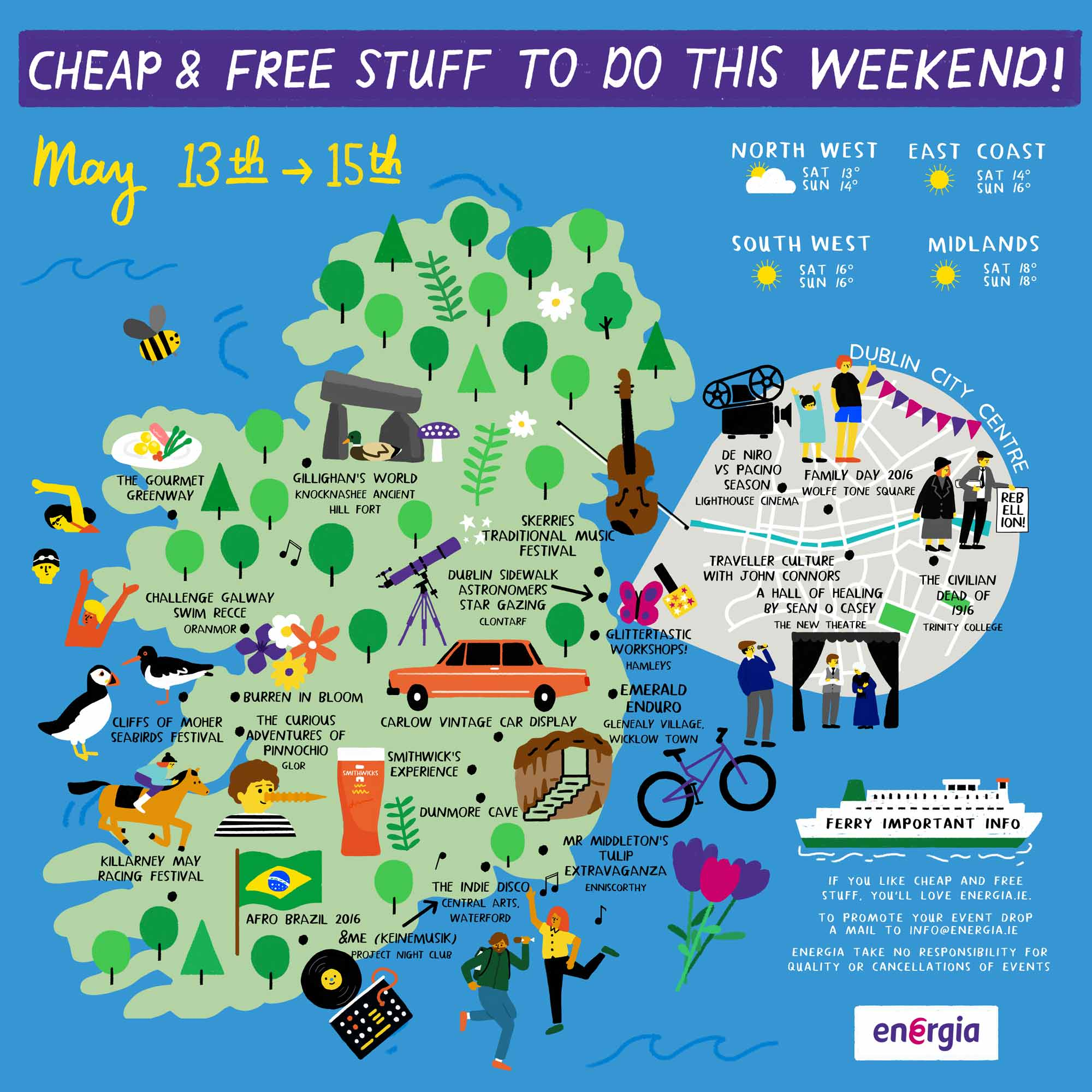 Cheap & Free Stuff To Do This Weekend 13th - 15th May