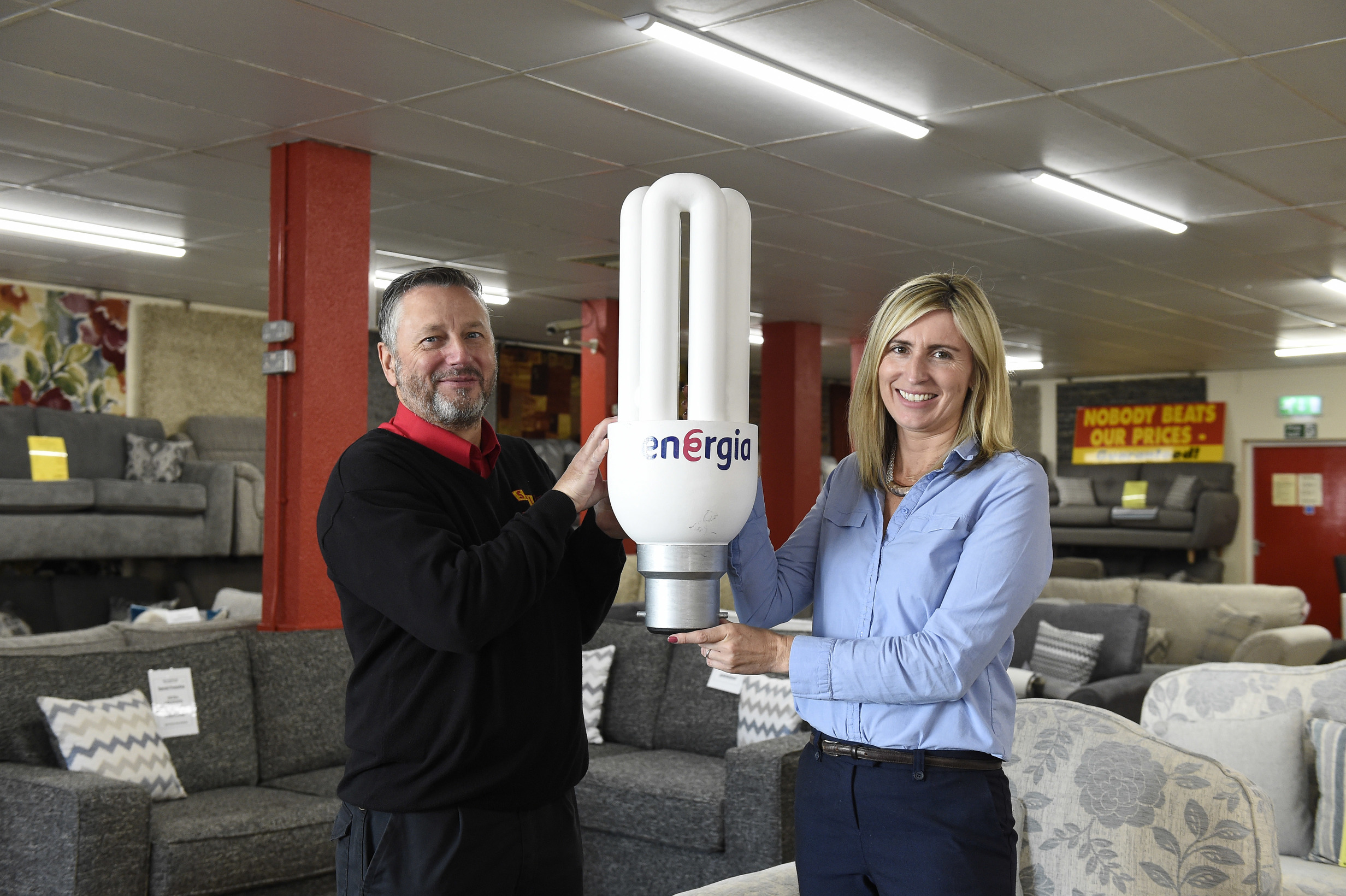 Belfast's S&L Furniture sitting on major energy savings after lighting upgrade with Energia