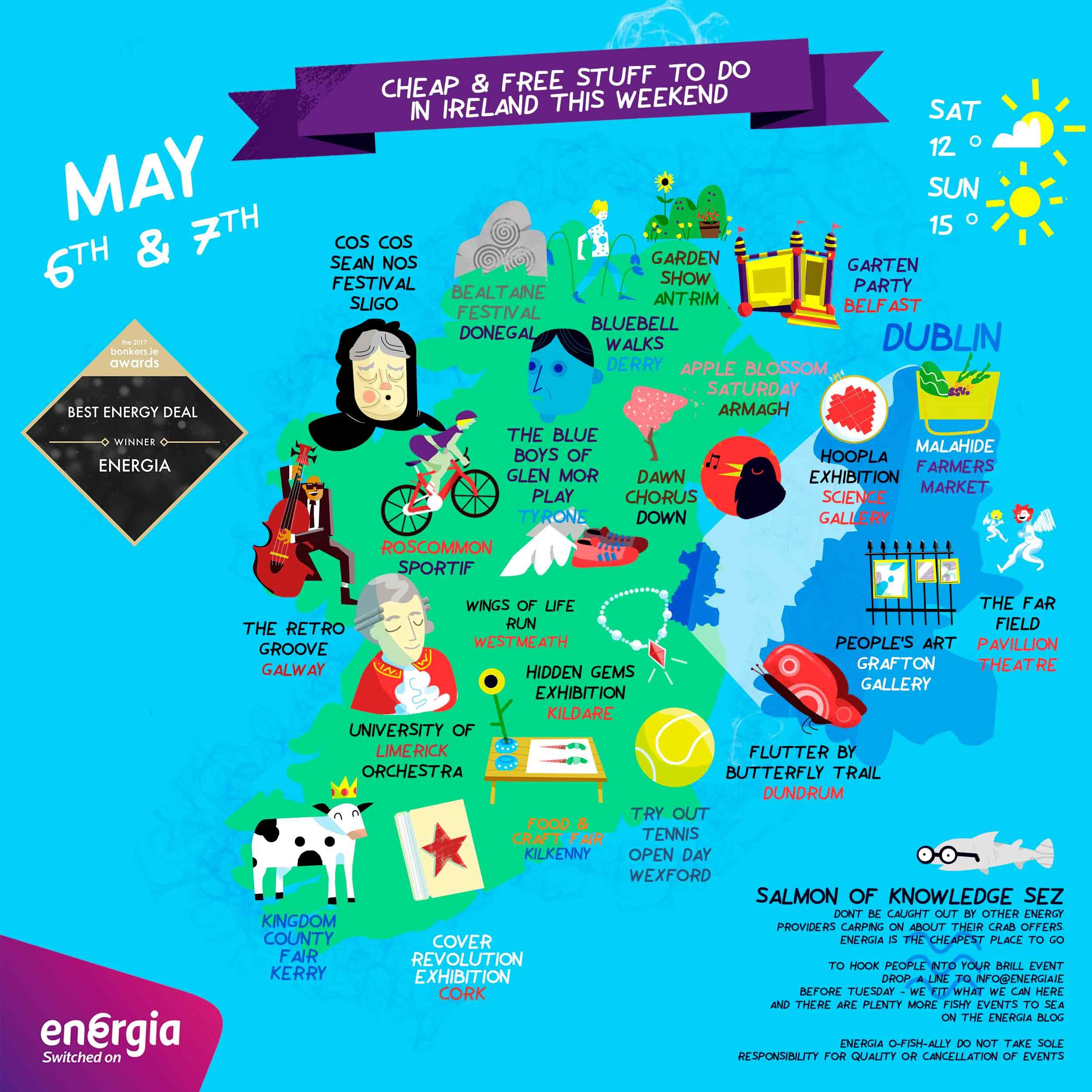 Clever Map of cheap and free things to do this weekend 6-7th May