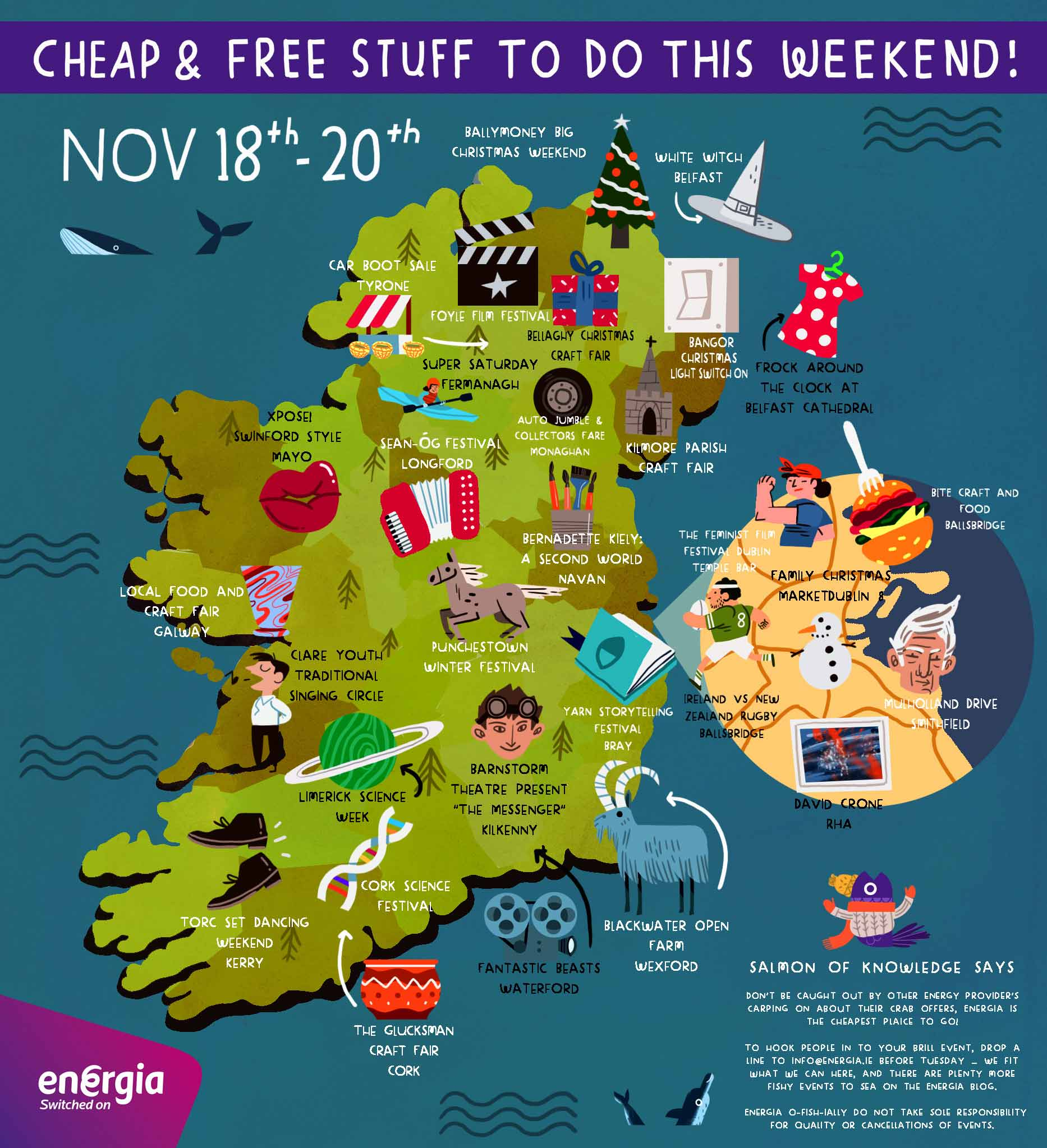Cheap & Free stuff to do this weekend 18th - 20th November