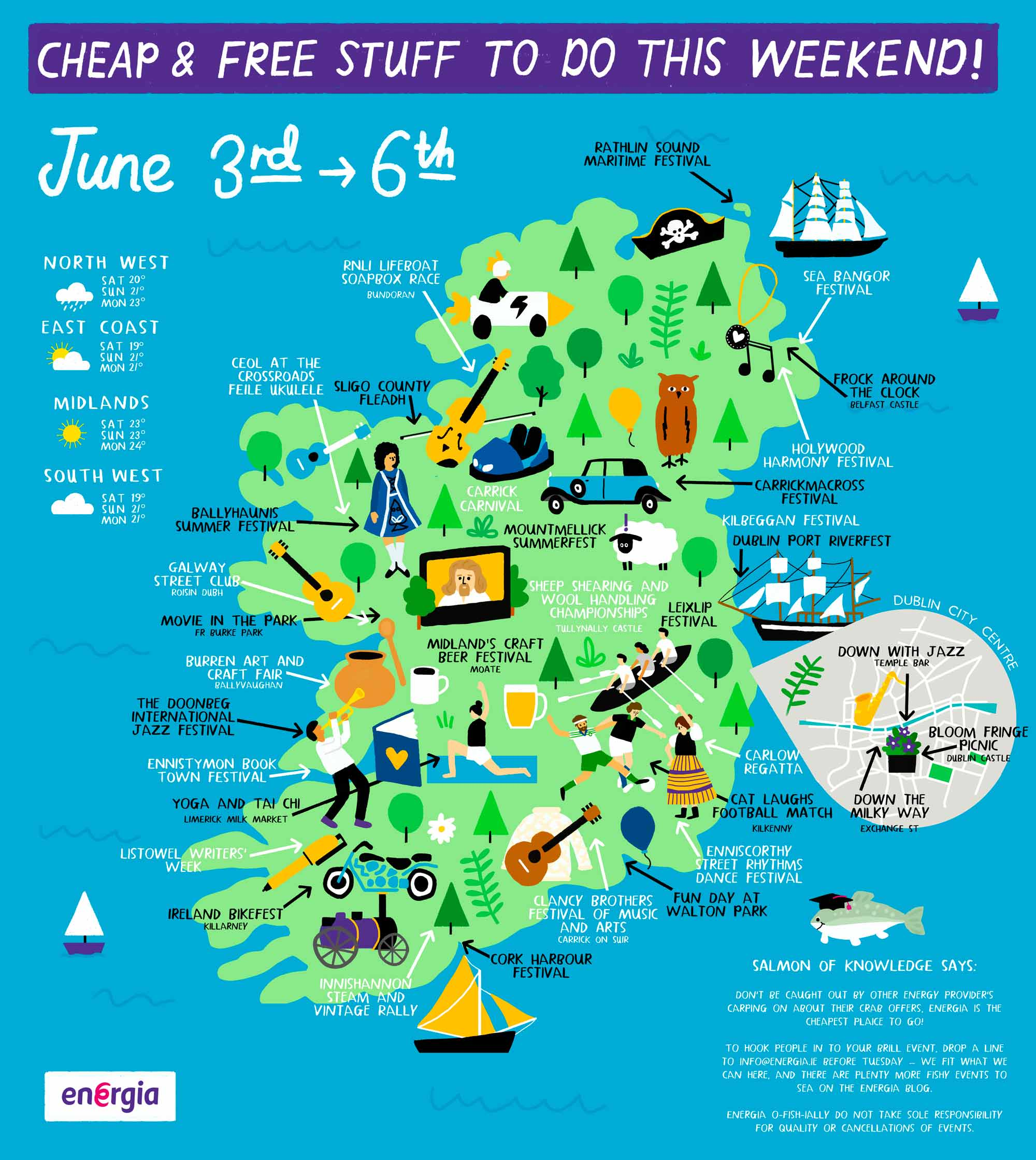 Cheap & Free stuff to do this weekend 3rd - 6th June