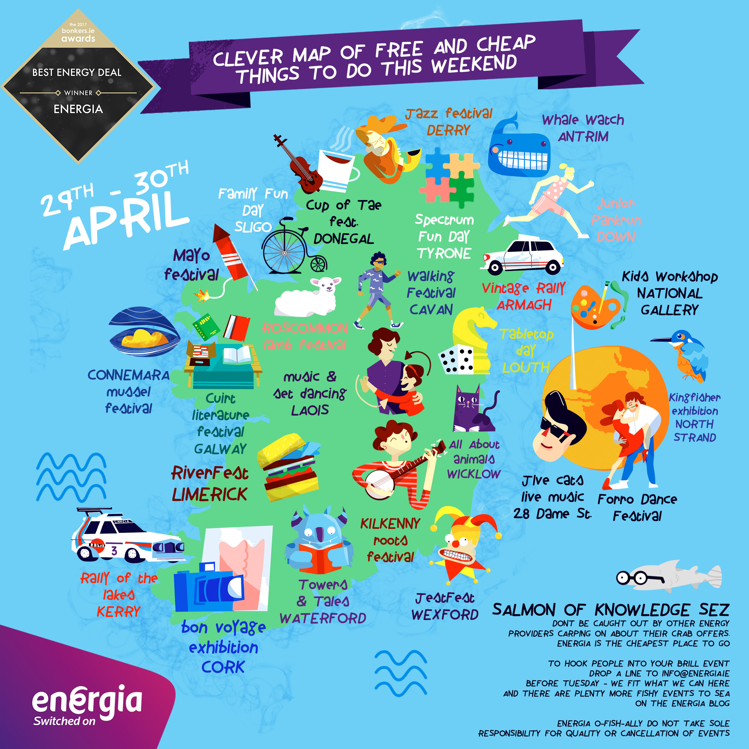 clever map of cheap and free things to do this weekend 29 30th april