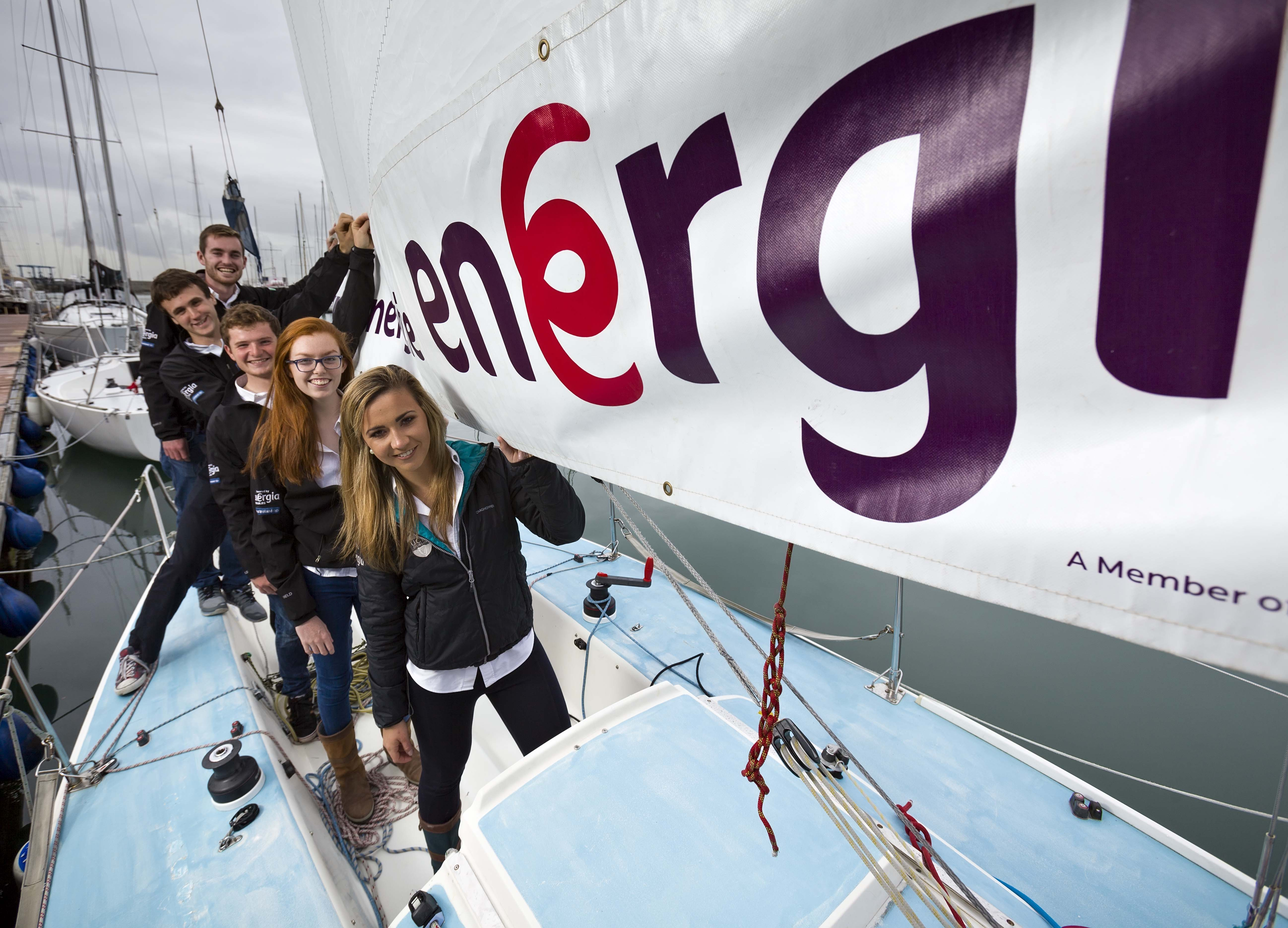 Energia power UCD Team Ireland's return to 2015 Student Yachting World Cup