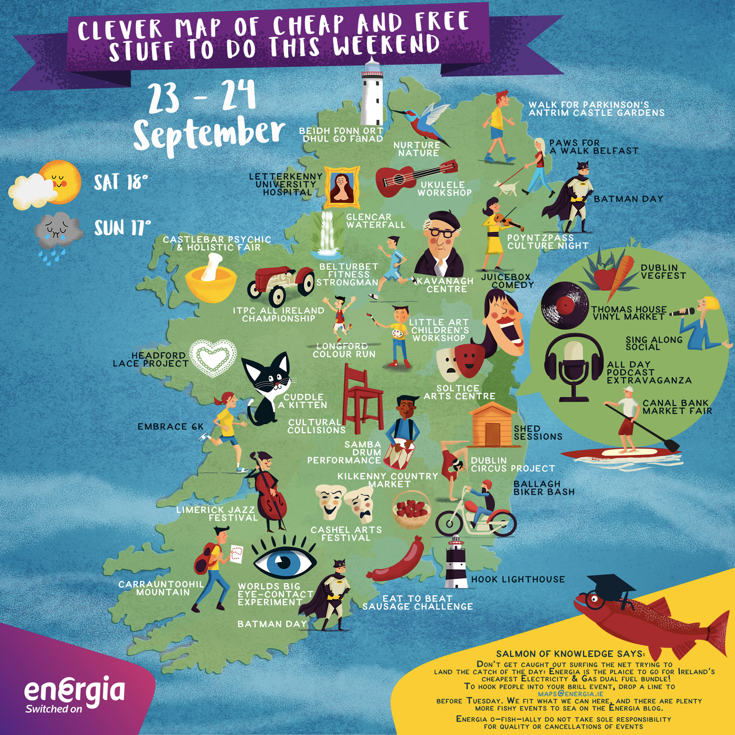 Map Of Quinn Ireland.Cheap Free Things To Do This Weekend 23rd 24th September Energia