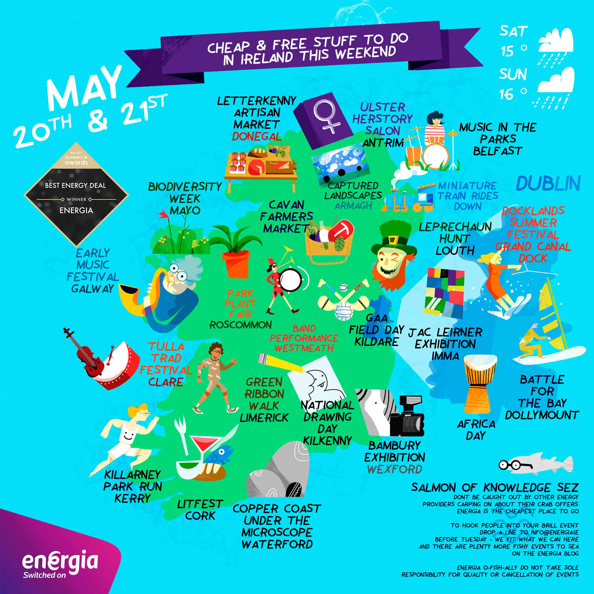 Clever Map of cheap and free stuff to do this weekend 20th-21st May