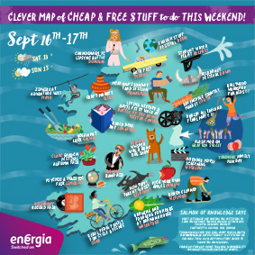 Cheap and free things to do in Ireland this weekend 16-17th September 2017