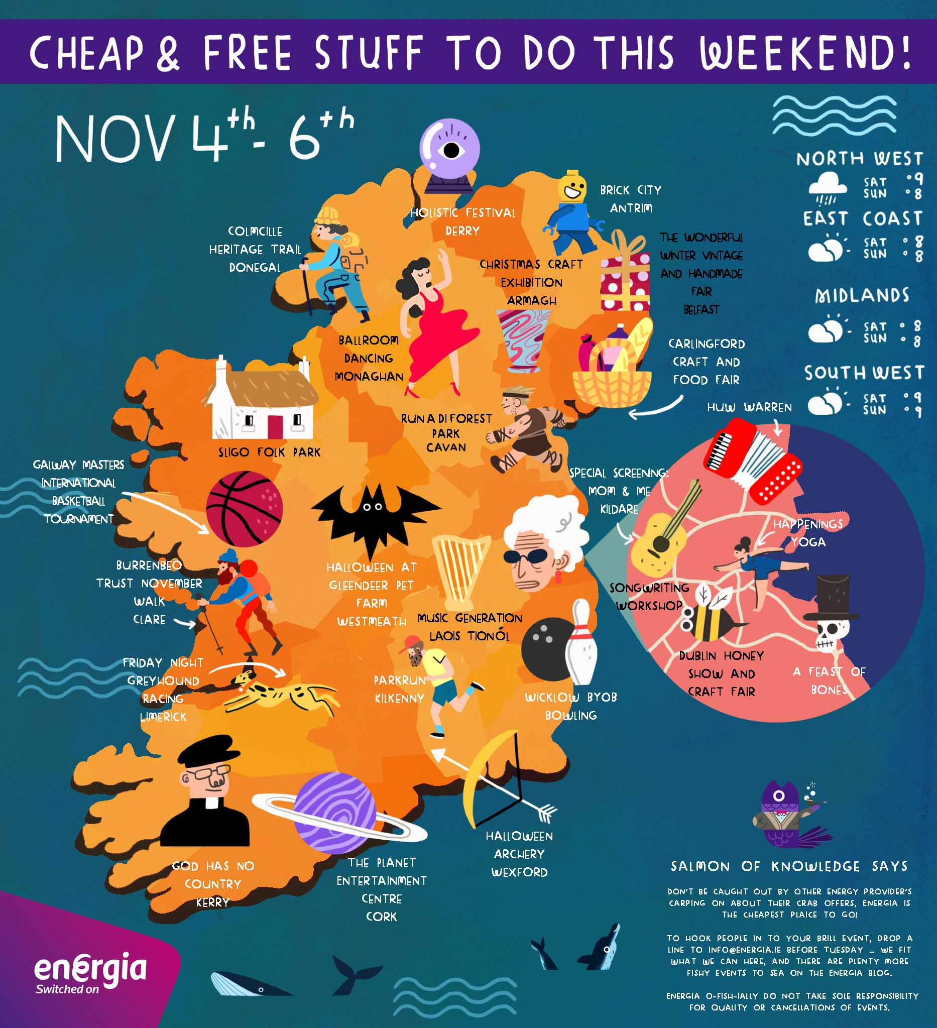 Cheap & Free stuff to do this weekend 4th - 6th November
