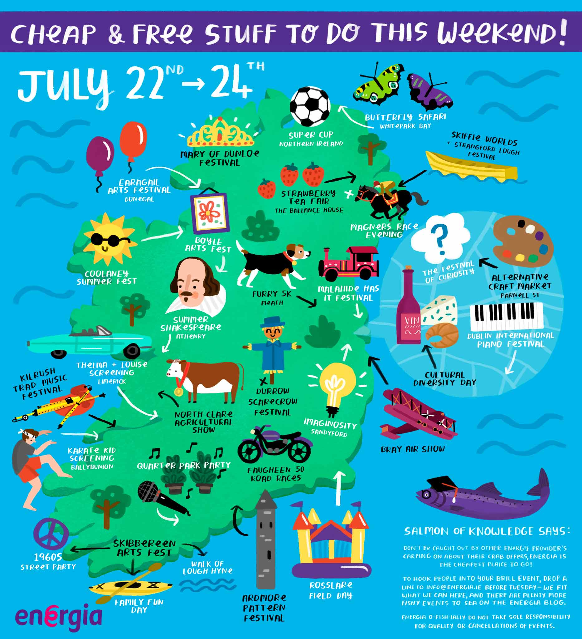 Cheap & Free stuff to do this weekend 22 - 24 July