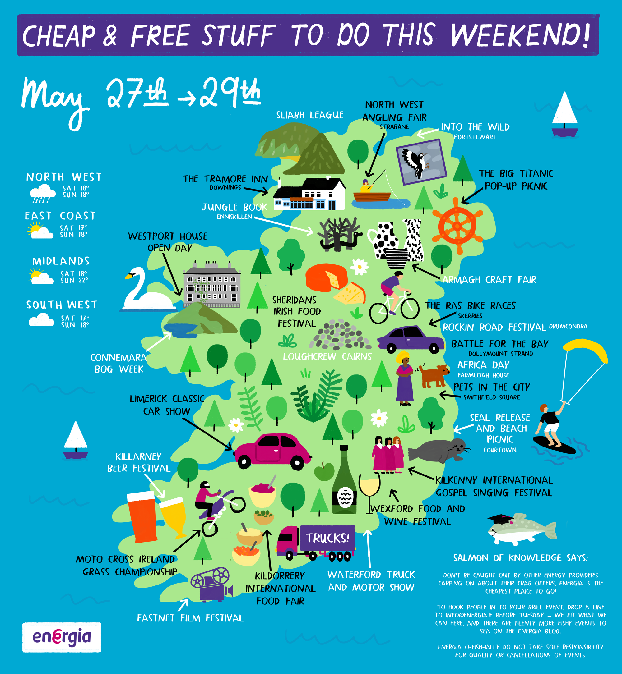 Cheap & Free stuff to do this weekend 27th - 29th May