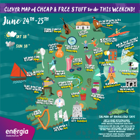 Clever Map of cheap and free stuff to do this weekend 24th-25th June