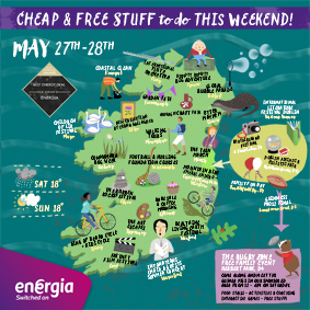 Clever Map of cheap and free stuff to do this weekend 27-28th May