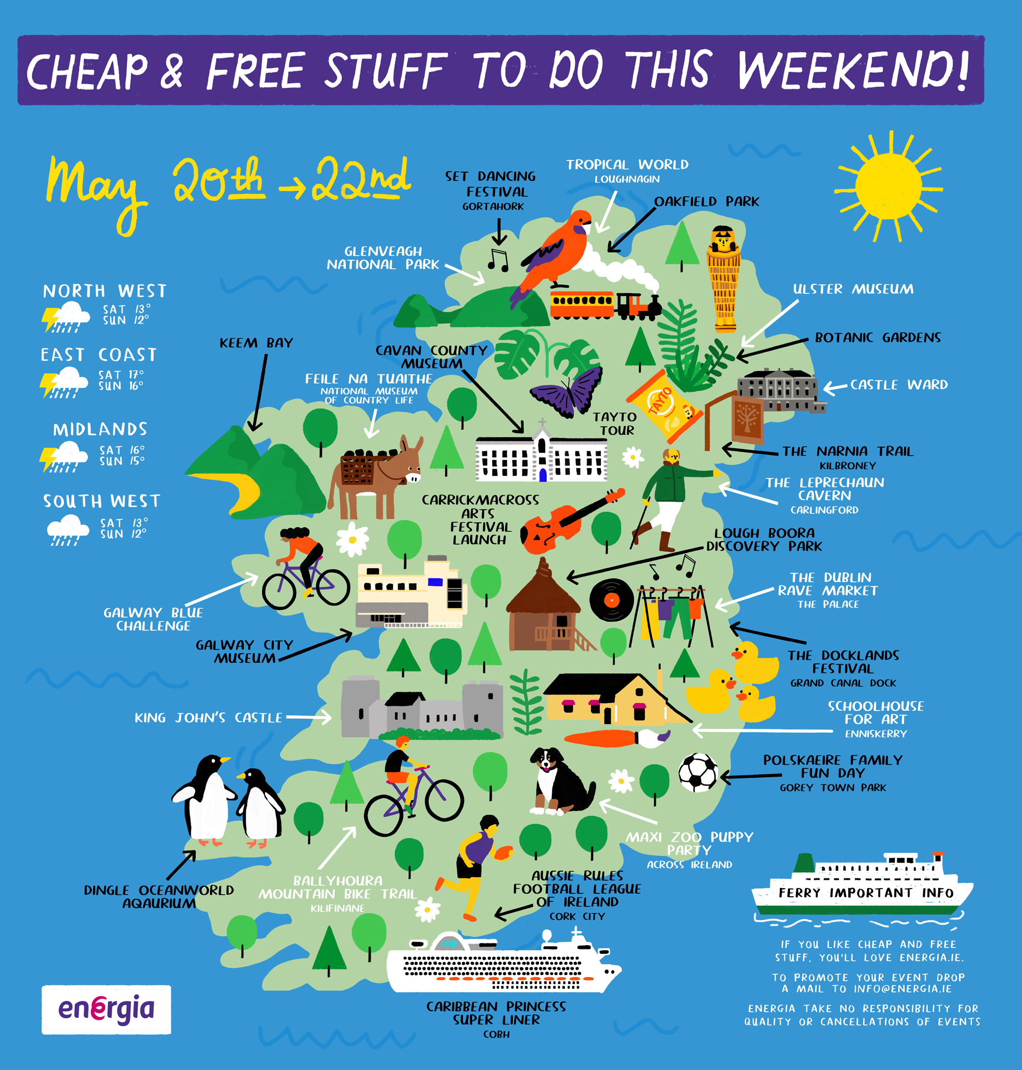 Cheap & Free stuff to do this weekend 20th - 22nd May