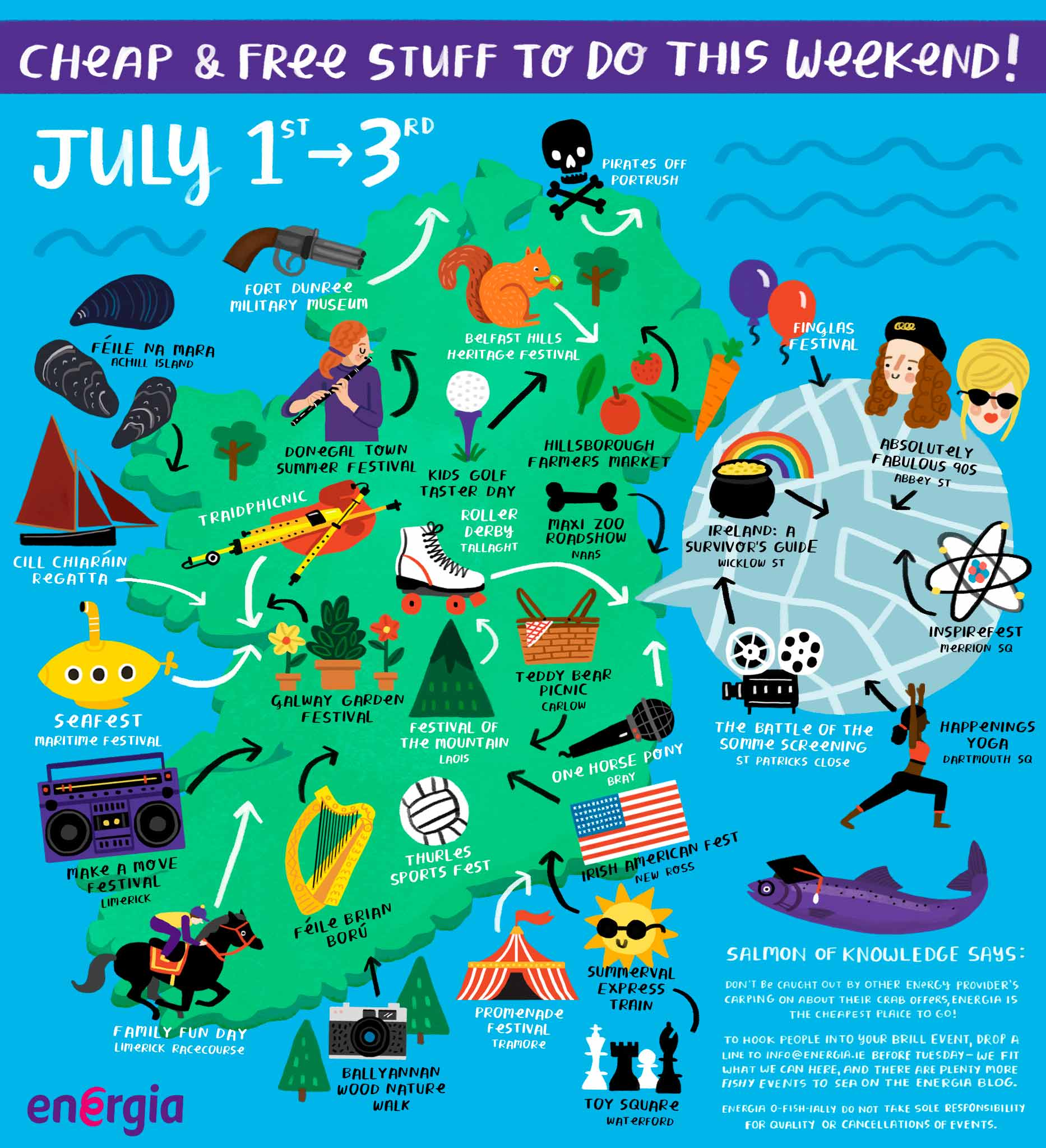 Cheap & Free stuff to do this weekend 1st to 3rd July